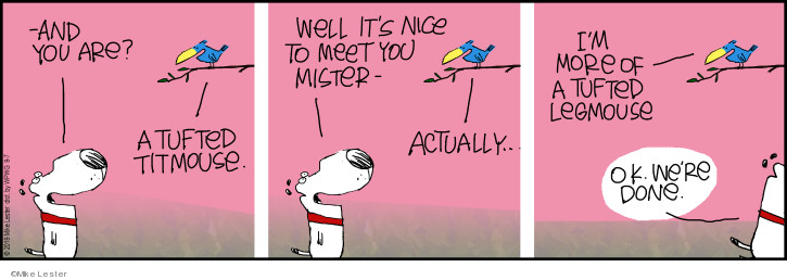 Comic Strip Mike Lester  Mike du Jour 2019-09-07 meet