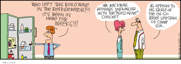 Comic Strip Mike Lester  Mike du Jour 2019-09-14 lifespan