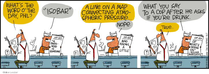 Cartoonist Mike Lester  Mike du Jour 2019-10-07 drunk