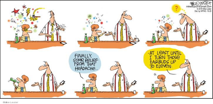 Cartoonist Mike Lester  Mike du Jour 2019-10-20 pill