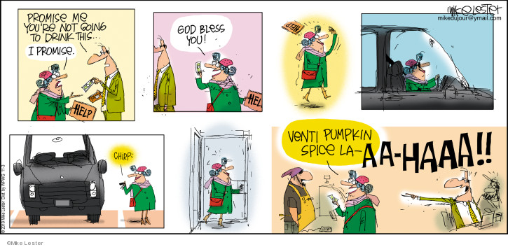 Comic Strip Mike Lester  Mike du Jour 2019-11-03 coffee