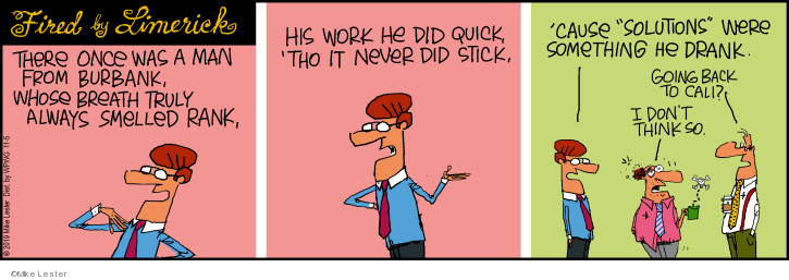 Cartoonist Mike Lester  Mike du Jour 2019-11-05 stick
