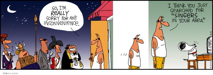 Cartoonist Mike Lester  Mike du Jour 2019-11-18 inconvenience