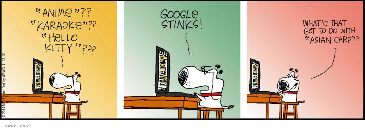 Anime?? Karaoke?? Hello Kitty??? Google stinks! Whats that got to do with Asian carp?