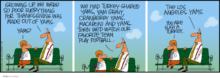 Comic Strip Mike Lester  Mike du Jour 2019-11-28 favorite food