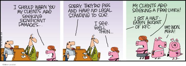 Cartoonist Mike Lester  Mike du Jour 2019-12-06 litigation