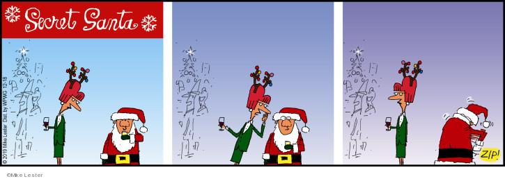 Cartoonist Mike Lester  Mike du Jour 2019-12-18 holiday