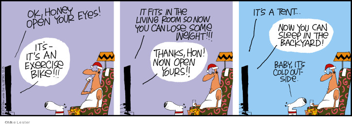Comic Strip Mike Lester  Mike du Jour 2019-12-25 holiday