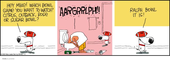 Comic Strip Mike Lester  Mike du Jour 2020-01-01 sport