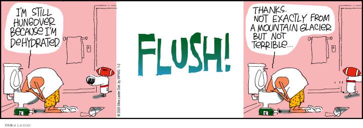 Comic Strip Mike Lester  Mike du Jour 2020-01-02 drink