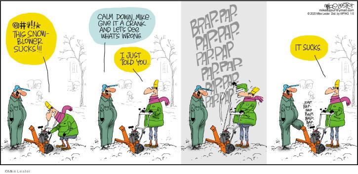 Comic Strip Mike Lester  Mike du Jour 2020-01-05 blow down