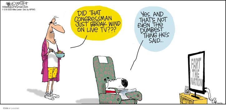 Comic Strip Mike Lester  Mike du Jour 2020-01-12 congressman