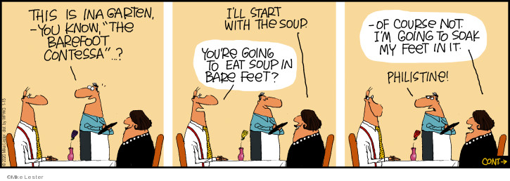 Comic Strip Mike Lester  Mike du Jour 2020-01-15 restaurant