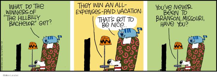 Comic Strip Mike Lester  Mike du Jour 2020-01-24 television cartoon