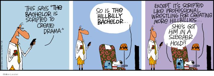 Comic Strip Mike Lester  Mike du Jour 2020-01-25 television cartoon
