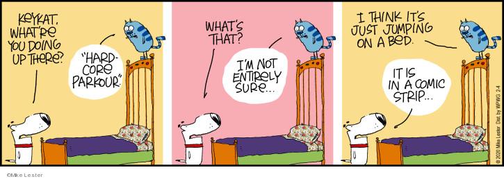 Cartoonist Mike Lester  Mike du Jour 2020-02-04 parkour