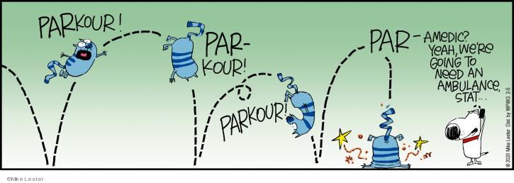Cartoonist Mike Lester  Mike du Jour 2020-02-05 parkour
