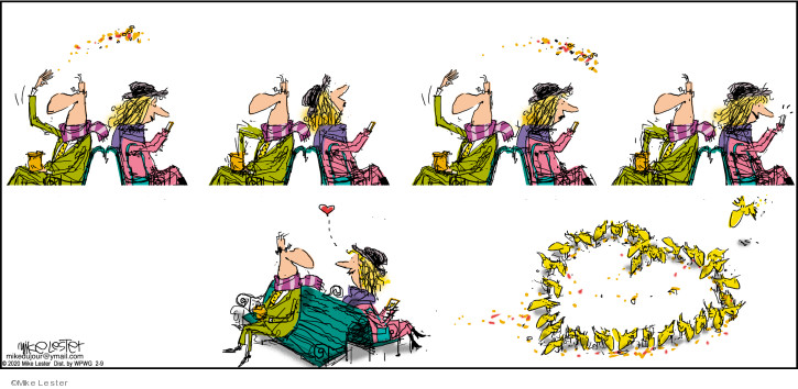 Cartoonist Mike Lester  Mike du Jour 2020-02-09 Valentine's Day