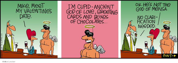Cartoonist Mike Lester  Mike du Jour 2020-02-13 Valentine's Day