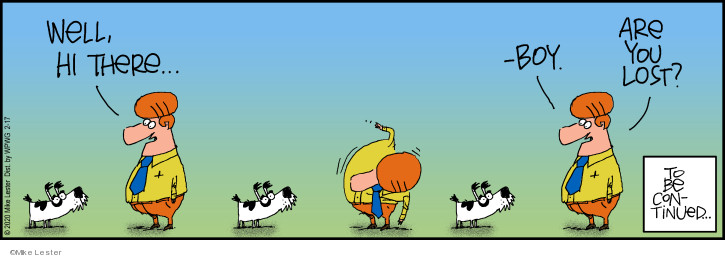 Comic Strip Mike Lester  Mike du Jour 2020-02-17 stray dog