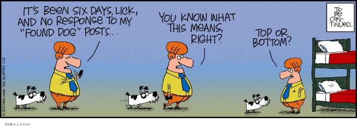 Cartoonist Mike Lester  Mike du Jour 2020-02-22 continue