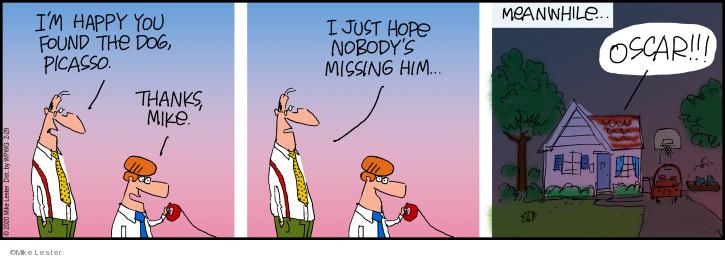 Cartoonist Mike Lester  Mike du Jour 2020-02-29 Lost