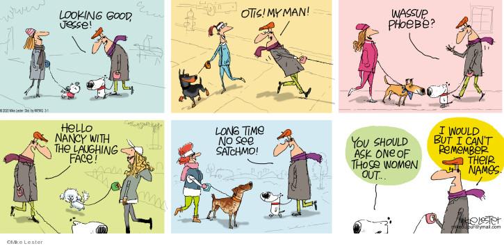 Cartoonist Mike Lester  Mike du Jour 2020-03-01 laugh