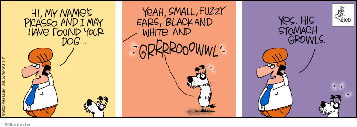 Cartoonist Mike Lester  Mike du Jour 2020-03-11 continue