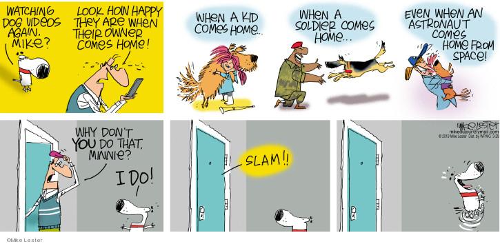 Cartoonist Mike Lester  Mike du Jour 2020-03-29 Minnie