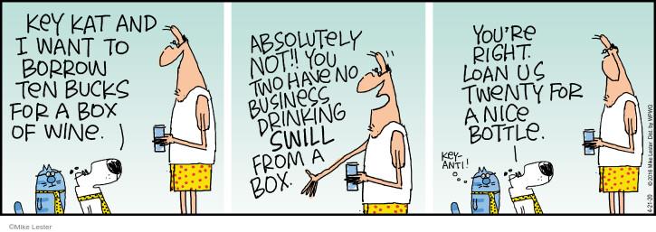 Comic Strip Mike Lester  Mike du Jour 2020-04-21 alcohol