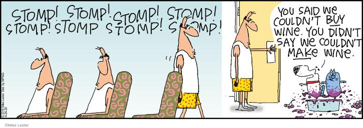 Comic Strip Mike Lester  Mike du Jour 2020-04-24 cat