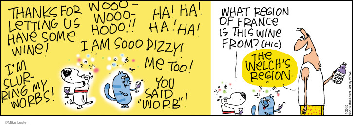 Comic Strip Mike Lester  Mike du Jour 2020-04-25 alcohol