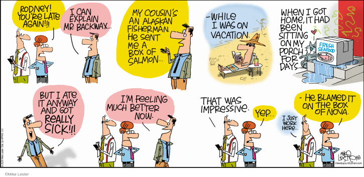 Cartoonist Mike Lester  Mike du Jour 2020-05-03 vacation