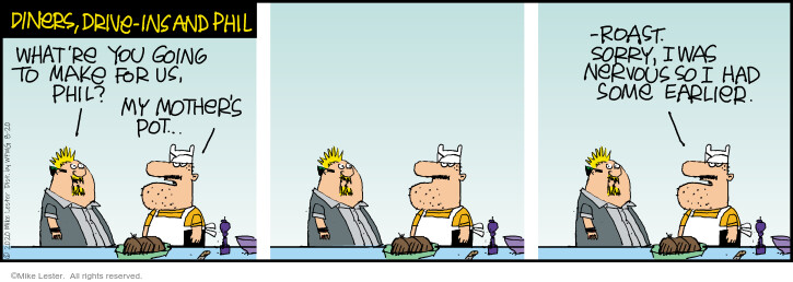 Comic Strip Mike Lester  Mike du Jour 2020-08-20 restaurant