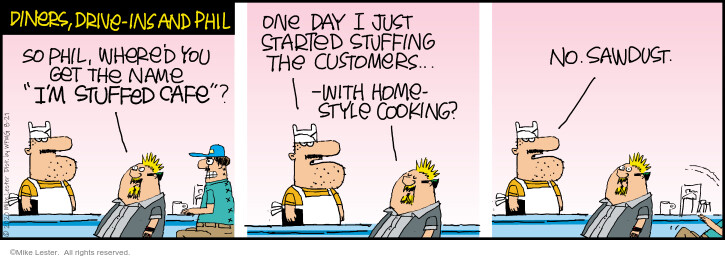 Comic Strip Mike Lester  Mike du Jour 2020-08-21 restaurant
