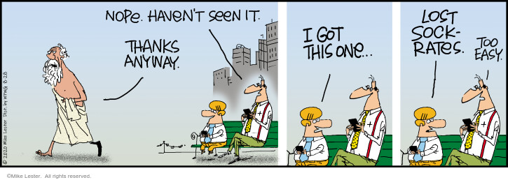 Comic Strip Mike Lester  Mike du Jour 2020-08-28 thank