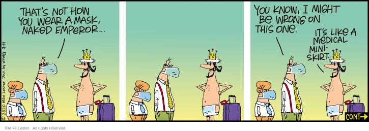 Comic Strip Mike Lester  Mike du Jour 2020-09-11 virus