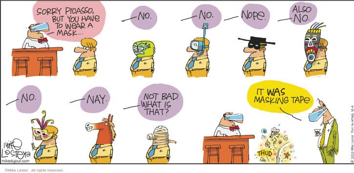 Comic Strip Mike Lester  Mike du Jour 2020-10-04 virus