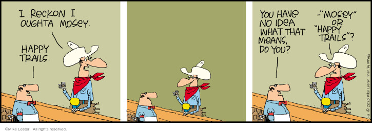 Comic Strip Mike Lester  Mike du Jour 2020-10-03 meant
