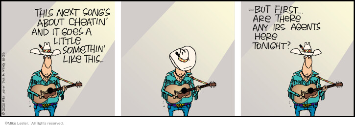 Comic Strip Mike Lester  Mike du Jour 2020-10-28 strip