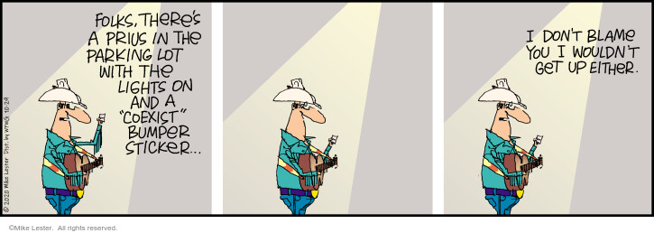 Comic Strip Mike Lester  Mike du Jour 2020-10-29 singer