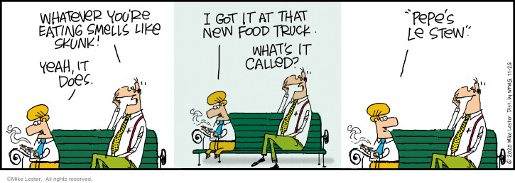 Comic Strip Mike Lester  Mike du Jour 2020-11-26 food truck