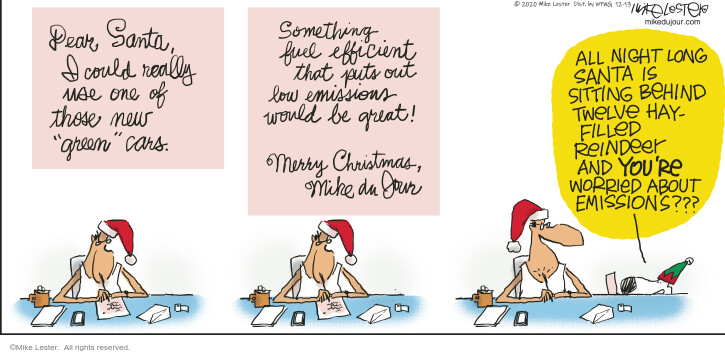 Comic Strip Mike Lester  Mike du Jour 2020-12-13 holiday