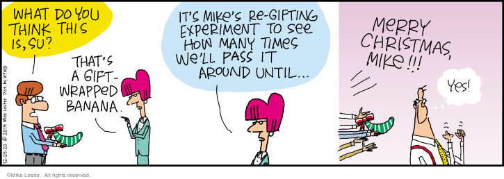 Comic Strip Mike Lester  Mike du Jour 2020-12-25 holiday