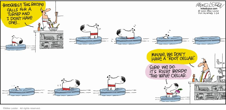 Comic Strip Mike Lester  Mike du Jour 2021-01-24 one