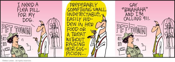 Comic Strip Mike Lester  Mike du Jour 2021-01-26 food