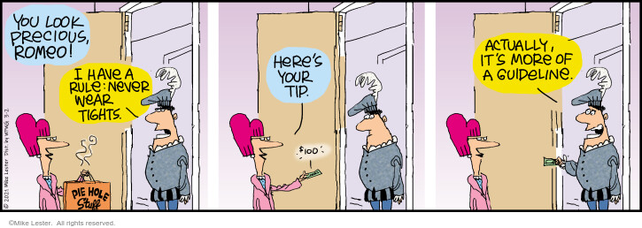 Comic Strip Mike Lester  Mike du Jour 2021-03-02 food delivery