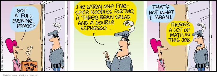 Comic Strip Mike Lester  Mike du Jour 2021-03-03 take-out food