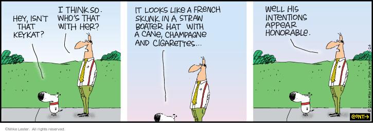 Comic Strip Mike Lester  Mike du Jour 2021-03-24 cat