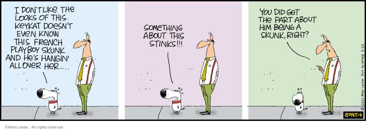 Comic Strip Mike Lester  Mike du Jour 2021-03-25 cat